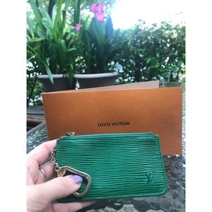 Louis Vuitton Epi Key Cles Pouch Card Holder